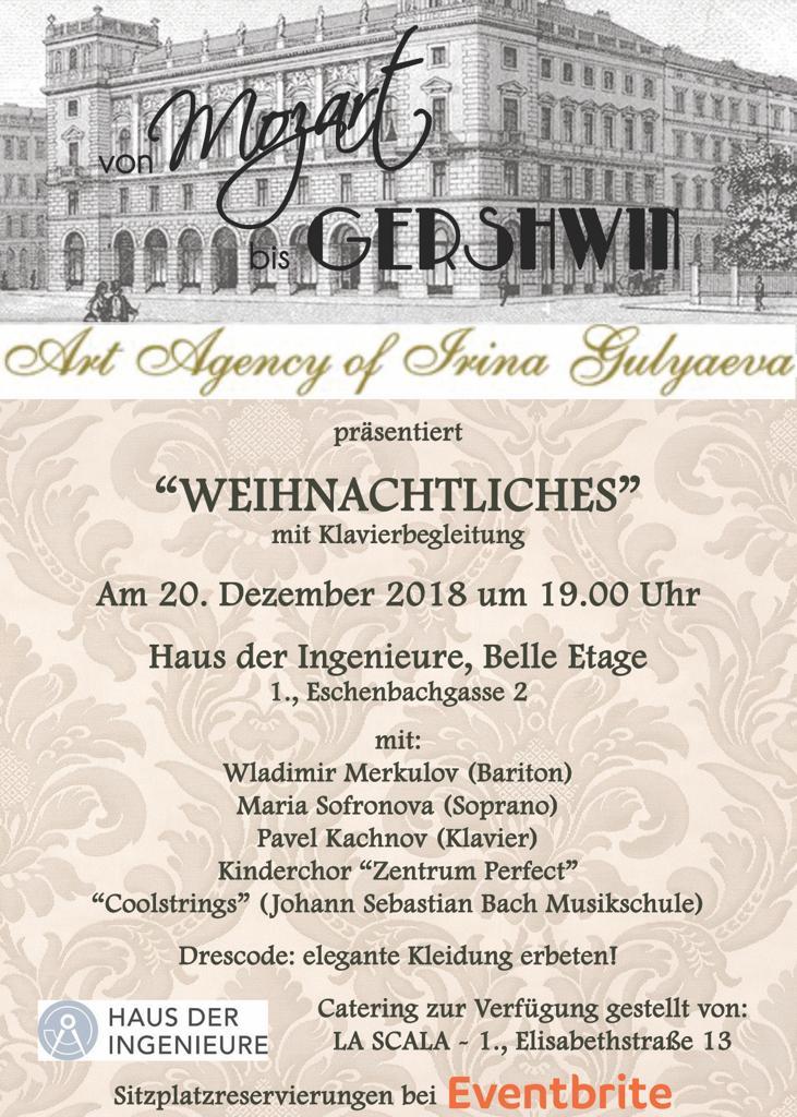 von Mozart bis Gershwin präsentiert «WEIHNACHTLICHES».